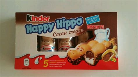 Kinder Happy Hippo Cocoa T5x20 7g ferrero kinder happy hippo cocoa biscuits box 5