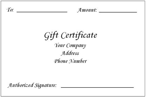 Microsoft Word Gift Card Template by Gift Certificate Template Word Peerpex