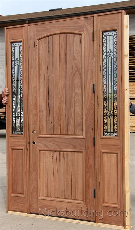 Teak Front Door Teak Exterior Wood Doors With Sidelites