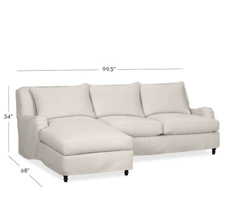 pottery barn chaise lounge carlisle slipcovered sofa with chaise sectional pottery barn