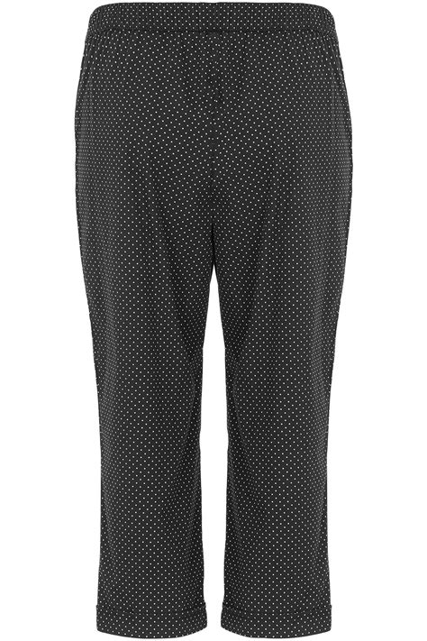 Cotton Cropped Trousers spot print cotton cropped trousers