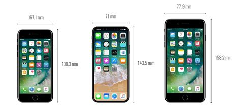 comparativa de tama 241 o iphone 8 frente a los iphone 7 galaxy s8 y m 225 s