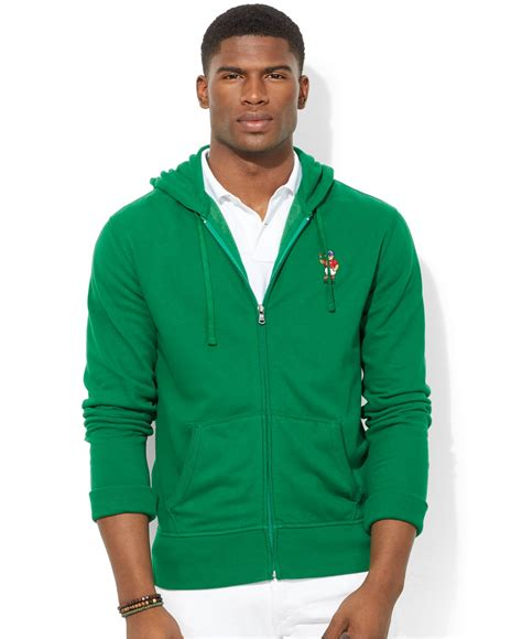 Vest Hoodie Zipper Polos Abu K21 lyst polo ralph polo zip fleece hoodie athlete polo in green for