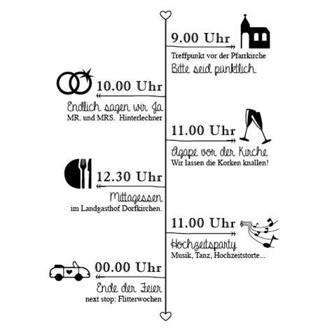 Hochzeit Trauung Ablauf by Einlagekarten Klassik Chic