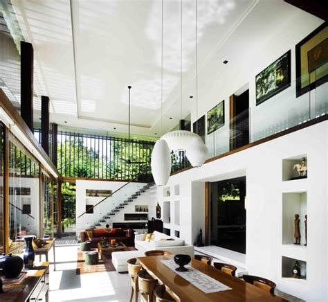open interiors the sun house by guz architects a hevean of green in singapore displayed in a modern mansion