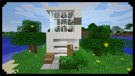 how to build a small modern house minecraft how to make a small modern house 5x5 youtube