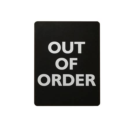 Out Of Order Bathroom Sign by Out Of Order Restroom Stall Sign