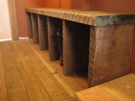 bench boots woodwork boot bench mudroom pdf plans