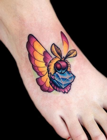 tattoo diamond foot moth tattoo images designs