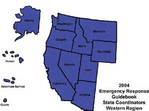 map of the west region of the united states western regional coordinators