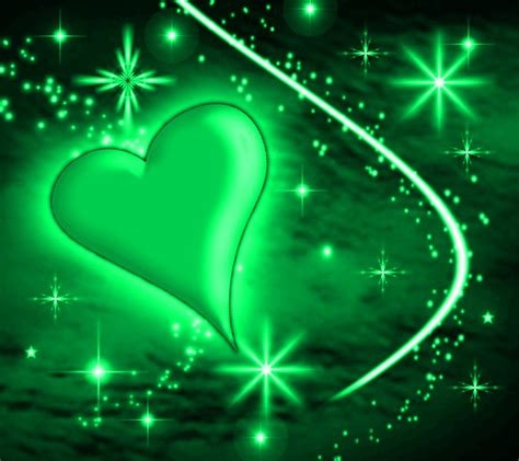 wallpaper green heart green heart with plasma stars background 1800x1600