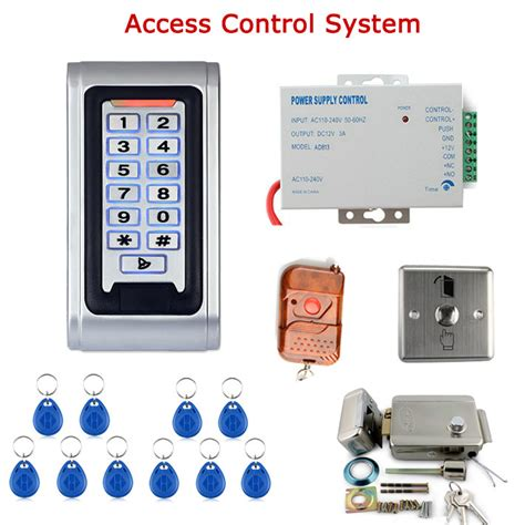 Remote Rf Power Supply Lock Door Access Rfid Electric Kunci Ru door access system kit electric door lock power supply door entry keypad remote