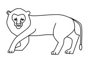 Complete the drawing with a tail a simple lion drawing is done