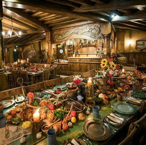 medieval ish hobbit feast  green dragon inn hobbiton