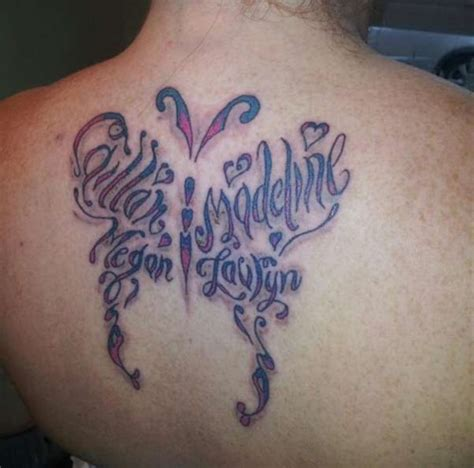 tattoo butterfly letters purple colored butterfly tattoo in letters tattooshunt com