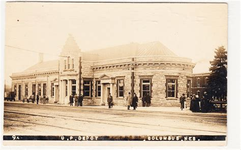 rppc columbus nebraska railroad depot early 1900s