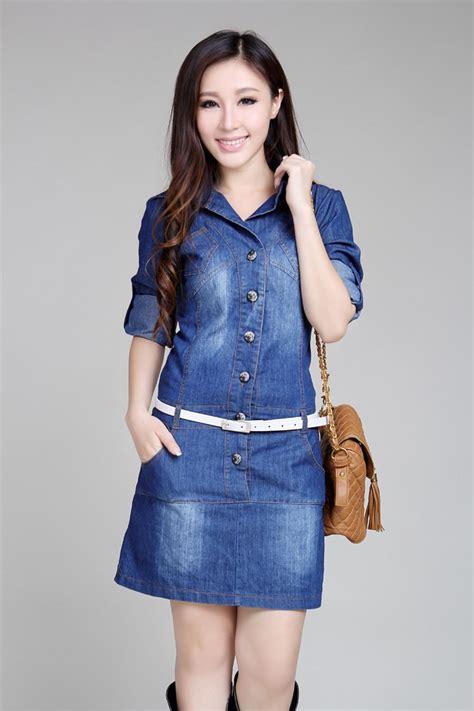 vestido casual denim mais tamanhos azul