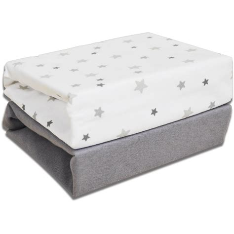 light grey jersey sheets 2 pack cot bed jersey fitted sheets magical grey