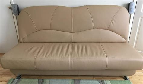 Leather Sofa Beds For Sale Faux Leather Sofa Bed Beige Color For Sale Eastbourne