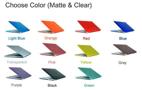 Matte Laptop Apple Macbook Air 11 13 Casing Cover Back newest rubberized laptop snap on cover clear