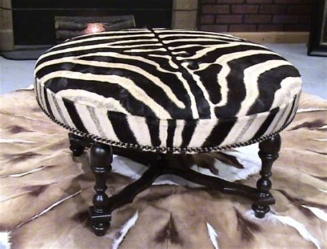 Cowhide Accessories - zebra ottoman furniture and accessories cowhide