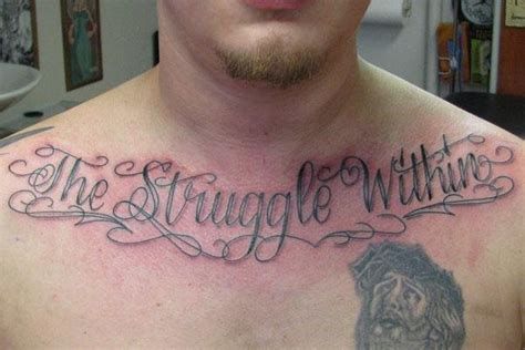 struggle tattoos metal mike tattoos the struggle within