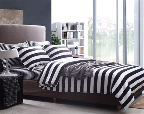 black and white striped comforter aliexpress com buy modern stripe white and black style