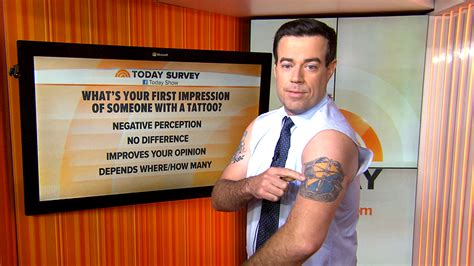carson daly tattoos crab claw carson daly shares the tales his tats