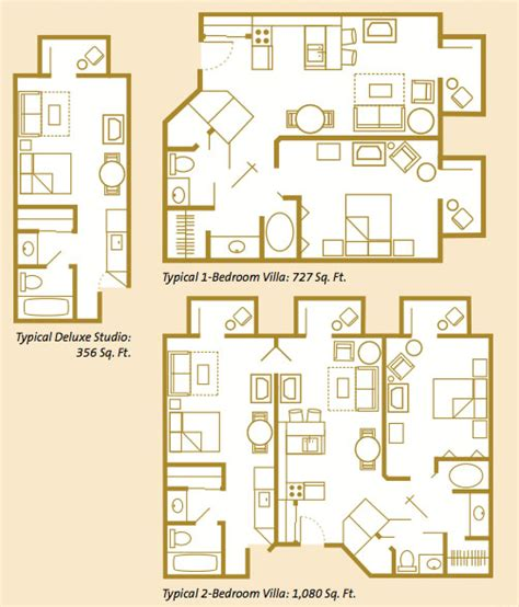 villa room layout the villas at disney s wilderness lodge guide
