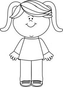 black white black and white happy little girl clip art black and white happy little girl image