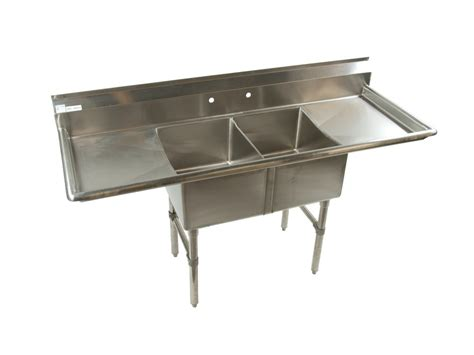 2 compartment prep sink db restaurant supply stainless steel two compartment