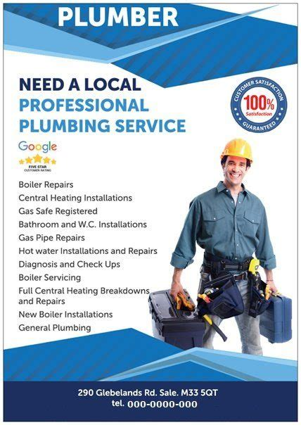 flyer design manchester 9 tips for starting a successful plumbing business