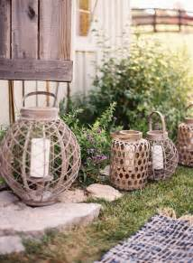 outside decor outdoor wedding reception decorations wire candle lanterns