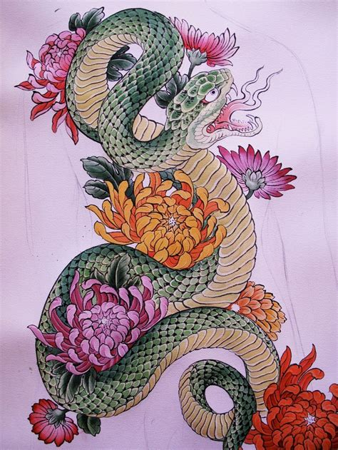 japanese snake tattoo designs snake search maybe on part of my back or
