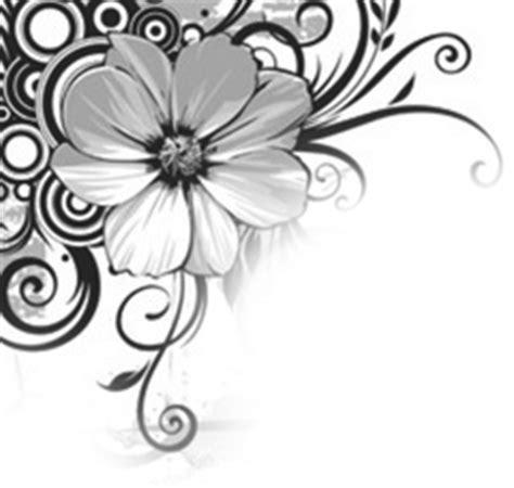 corner template designs free swirl flower corners black gray white ebay template