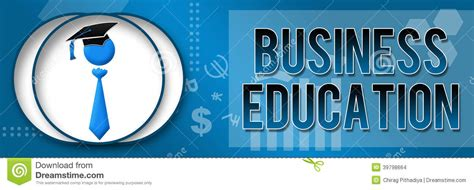 education related themes business education business theme banner stock photo