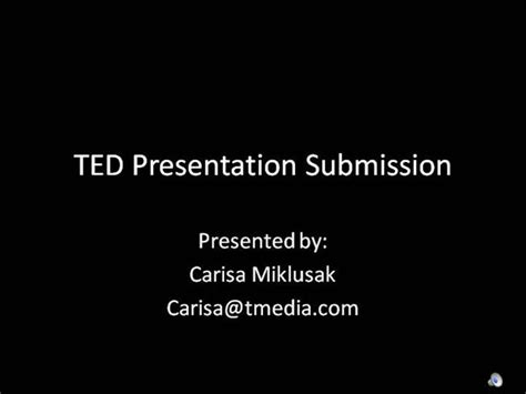 Ted Submission Authorstream Ted Talk Presentation Template