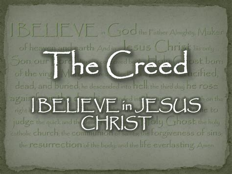 I Believe In Jesus the creed i believe in jesus