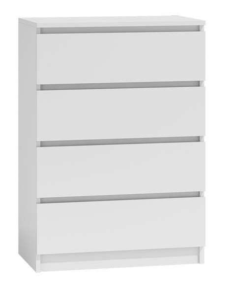 70cm Wide Chest Of Drawers by Moderna 4 Drawer Chest Of Drawers White