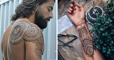 menna trend sees men wearing intricate henna tattoos