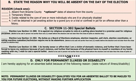How To Receive Section 8 by Absentee Application Broomevotes Live Redux