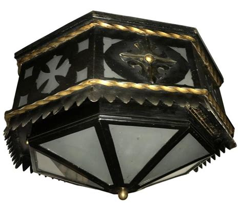 wrought iron flush mount lighting wrought iron flush mounted light fixture for sale at 1stdibs