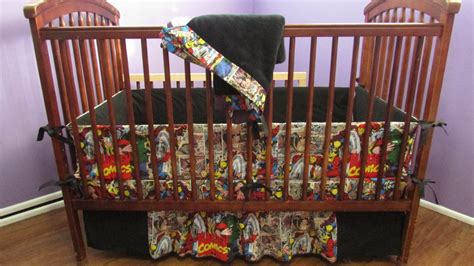 Marvel Baby Bedding black marvel crib bedding set by babymanna on etsy