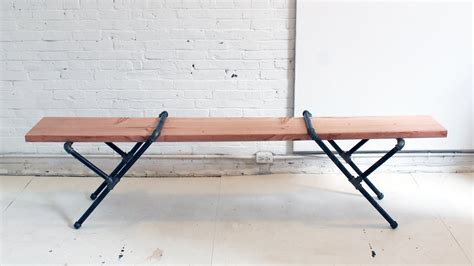 iron pipe bench homemade modern ep 23 diy pipe bench youtube