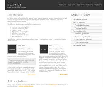 html5 basic template basic 88 free html5 template html5 templates os templates
