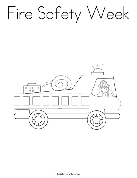 fire safety coloring books fire safety week coloring page twisty noodle