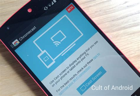 how to use chromecast on android cult of android how to use android mirroring with chromecast cult of android