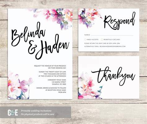 Watercolor Wedding Invite, Multicolor Wedding Invitations