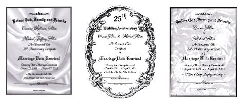 Marriage Vow Renewal Certificates For Vow Renewals Wedding Anniversary Certificate Template