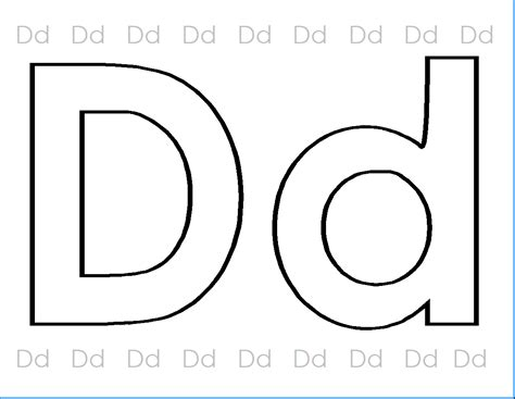 Abc Printables Coloring Letter Dd